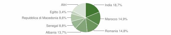 Grafico cittadinanza stranieri - Pontevico 2010