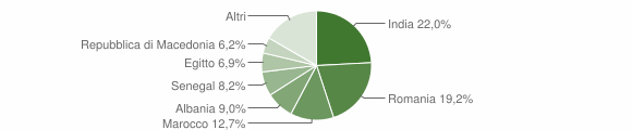 Grafico cittadinanza stranieri - Pontevico 2017