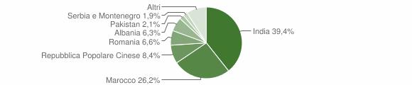 Grafico cittadinanza stranieri - Gottolengo 2008