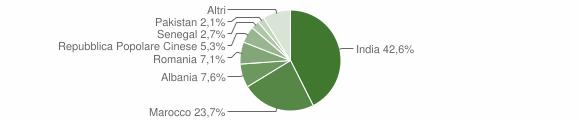 Grafico cittadinanza stranieri - Gottolengo 2010