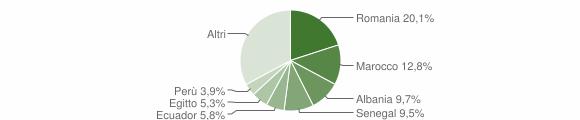 Grafico cittadinanza stranieri - Paderno d'Adda 2019