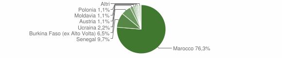 Grafico cittadinanza stranieri - Pertica Bassa 2008