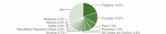 Grafico cittadinanza stranieri - Segrate 2013