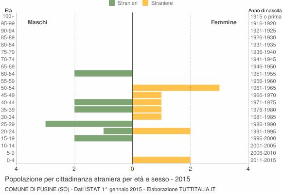 Grafico cittadini stranieri - Fusine 2015