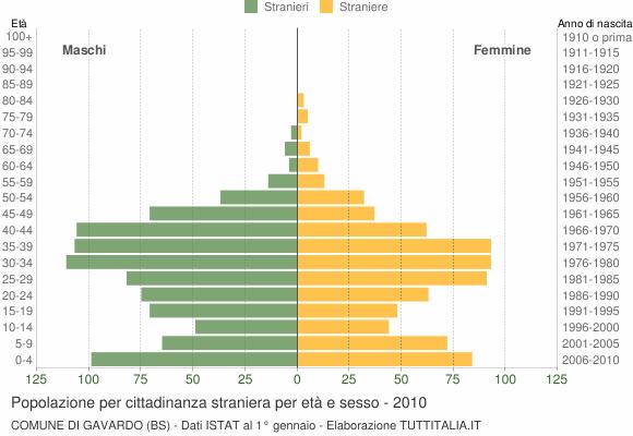 Grafico cittadini stranieri - Gavardo 2010