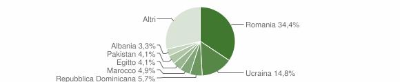 Grafico cittadinanza stranieri - Misinto 2019