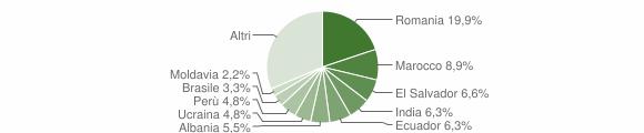 Grafico cittadinanza stranieri - Cerro al Lambro 2019
