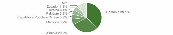 Grafico cittadinanza stranieri - Cigognola 2019