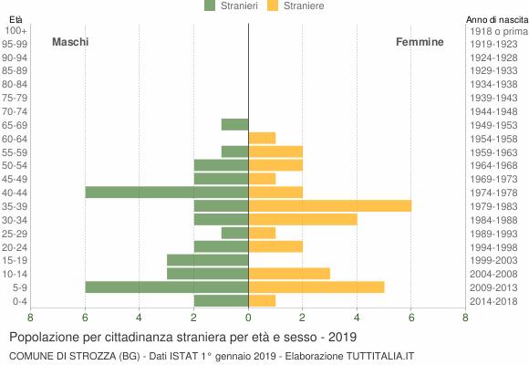 Grafico cittadini stranieri - Strozza 2019