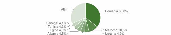 Grafico cittadinanza stranieri - Verano Brianza 2019