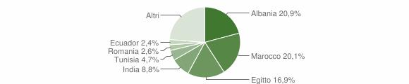 Grafico cittadinanza stranieri - Casirate d'Adda 2010