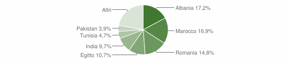 Grafico cittadinanza stranieri - Casirate d'Adda 2017