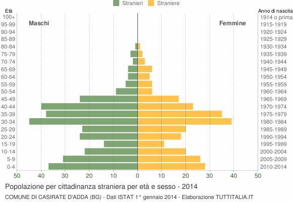 Grafico cittadini stranieri - Casirate d'Adda 2014