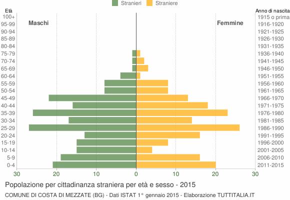 Grafico cittadini stranieri - Costa di Mezzate 2015