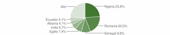 Grafico cittadinanza stranieri - Capergnanica 2019