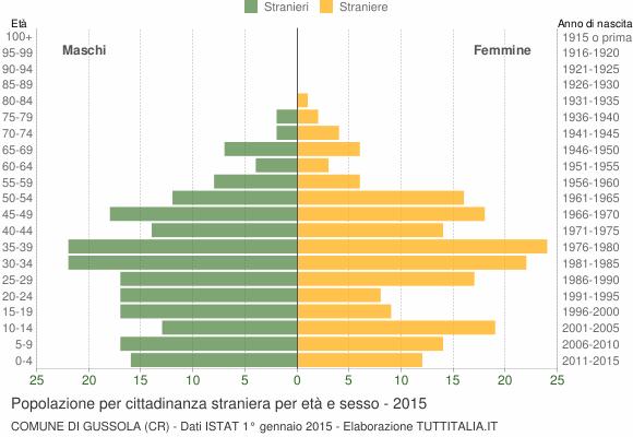 Grafico cittadini stranieri - Gussola 2015