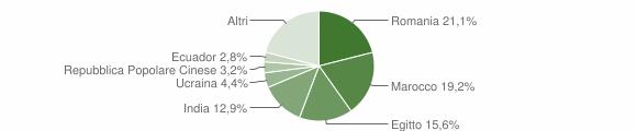 Grafico cittadinanza stranieri - Pizzighettone 2018