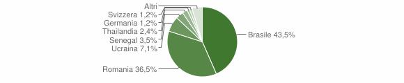 Grafico cittadinanza stranieri - Borno 2018
