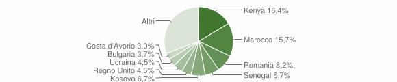 Grafico cittadinanza stranieri - Lierna 2019