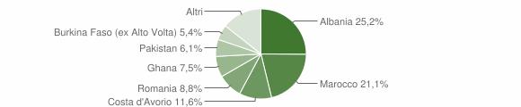 Grafico cittadinanza stranieri - Paitone 2005