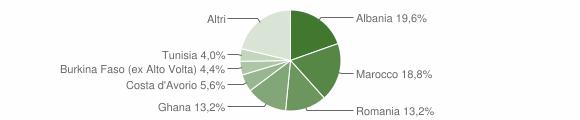Grafico cittadinanza stranieri - Paitone 2009