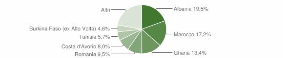 Grafico cittadinanza stranieri - Paitone 2010