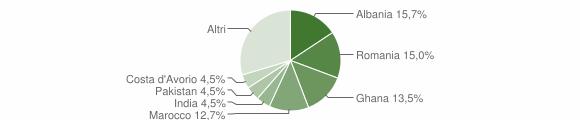 Grafico cittadinanza stranieri - Paitone 2012