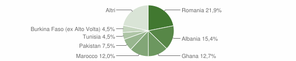 Grafico cittadinanza stranieri - Paitone 2014