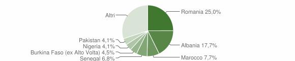 Grafico cittadinanza stranieri - Paitone 2019