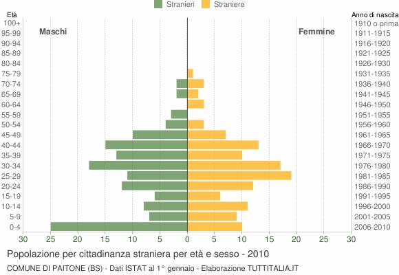 Grafico cittadini stranieri - Paitone 2010