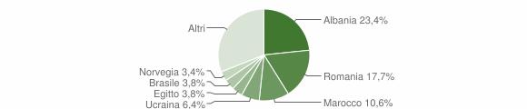 Grafico cittadinanza stranieri - Pozzolengo 2019