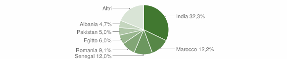 Grafico cittadinanza stranieri - Verolanuova 2014