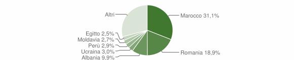 Grafico cittadinanza stranieri - Cornate d'Adda 2018
