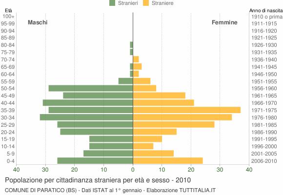 Grafico cittadini stranieri - Paratico 2010