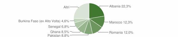 Grafico cittadinanza stranieri - Prevalle 2008