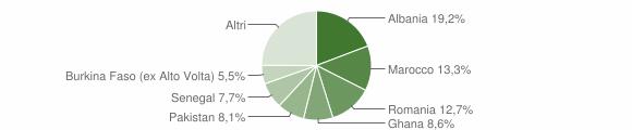 Grafico cittadinanza stranieri - Prevalle 2010