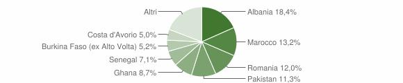 Grafico cittadinanza stranieri - Prevalle 2011