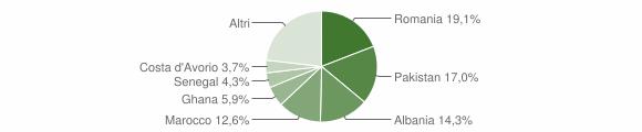 Grafico cittadinanza stranieri - Prevalle 2019