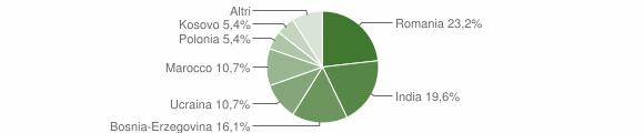 Grafico cittadinanza stranieri - Sellero 2012