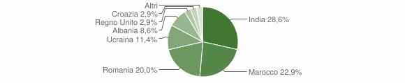 Grafico cittadinanza stranieri - Sellero 2017