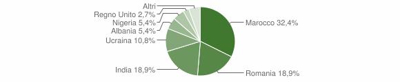 Grafico cittadinanza stranieri - Sellero 2018