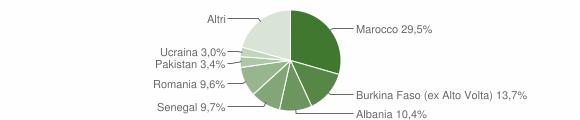 Grafico cittadinanza stranieri - Vobarno 2011