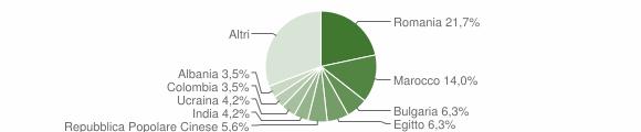 Grafico cittadinanza stranieri - Bubbiano 2019