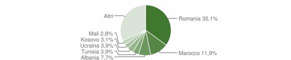 Grafico cittadinanza stranieri - Edolo 2018