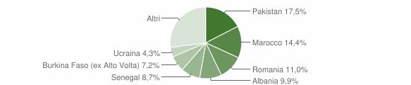 Grafico cittadinanza stranieri - Gardone Val Trompia 2018
