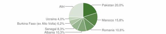 Grafico cittadinanza stranieri - Gardone Val Trompia 2019