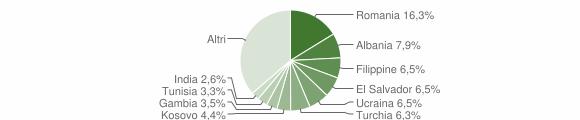 Grafico cittadinanza stranieri - San Fermo della Battaglia 2019