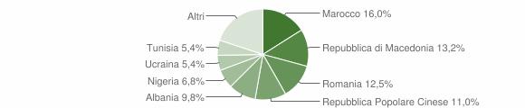 Grafico cittadinanza stranieri - Canneto sull'Oglio 2019