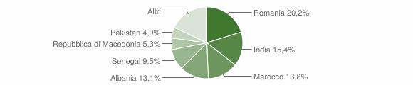 Grafico cittadinanza stranieri - Cologno al Serio 2019