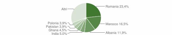 Grafico cittadinanza stranieri - Bedizzole 2009